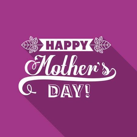 Mothers day design over purple background, vector illustration