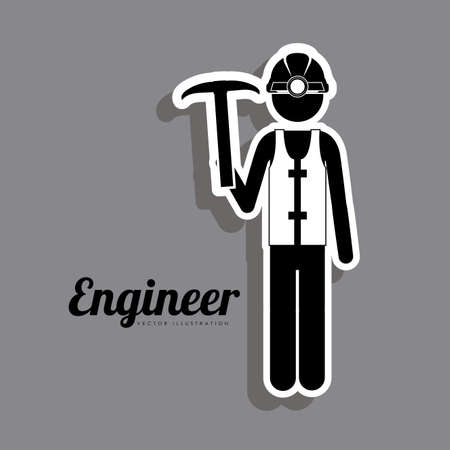 civil engineers: Occupations  design over grey background, vector illustration Illustration