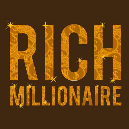 illustation: Money design over brown background, vector illustation Illustration