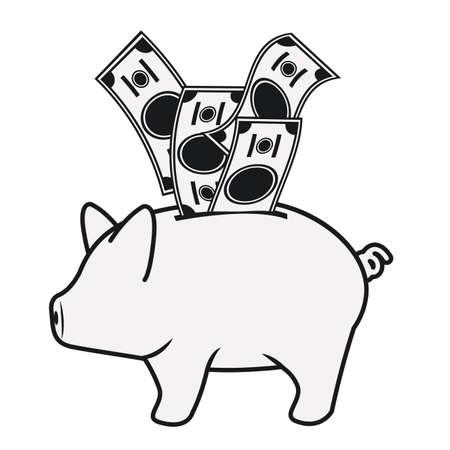 illustation: Money design over white background, vector illustation
