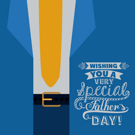 fathers day background: fathers day design over blue background, vector illustration