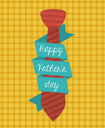 happy people: fathers day design over orange background, vector illustration