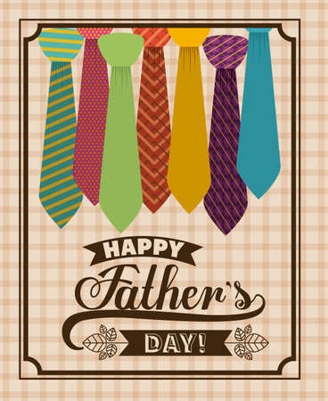 fathers day background: fathers day design over pastel background, vector illustration Illustration