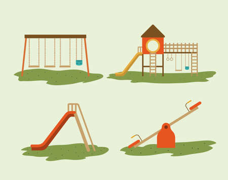 Playground design over white background, vector illustration
