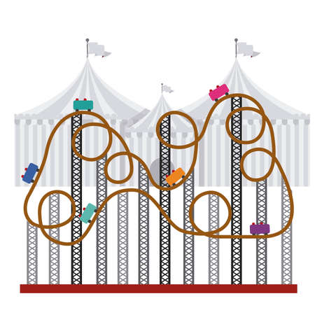 roller coaster: Fair design over white background, vector illustration