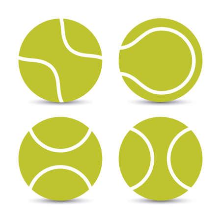 tenis: Diseño del tenis sobre fondo blanco, ilustración vectorial