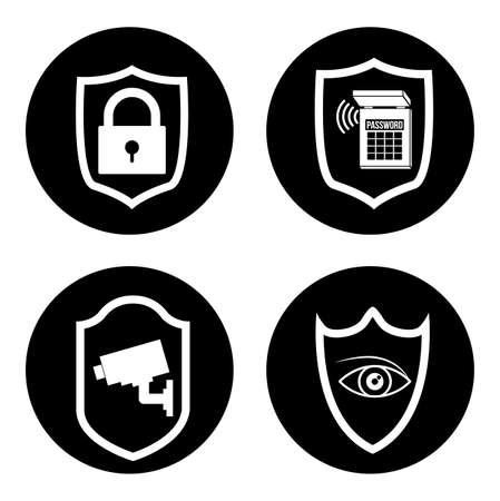 Security system design over white background, vector illustration Illustration