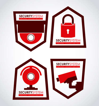 Security system design over white background, vector illustration Vector
