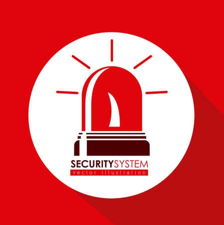 value system: Security system design over red background, vector illustration Illustration