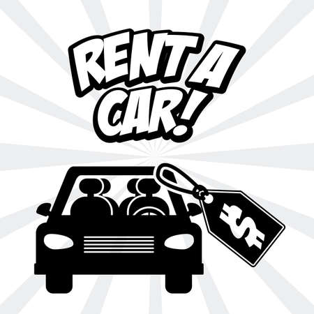 rent: Rent a car design over white background, vector illustration