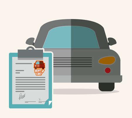 renting: Rent a car design over white background, vector illustration