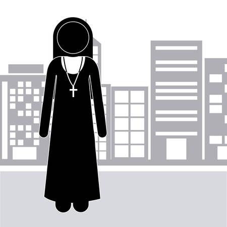 congregation: Church design over white background, vector illustration
