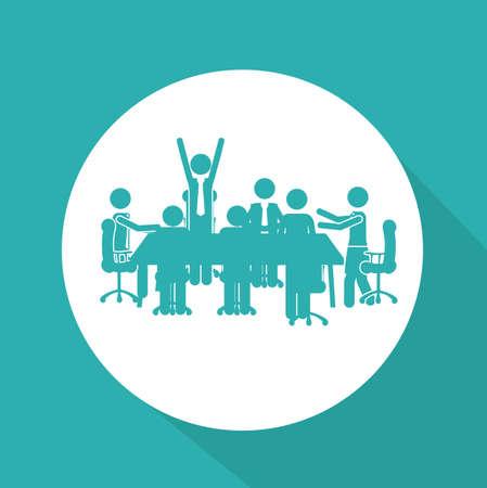 Business design over blue background, vector illustration Illustration