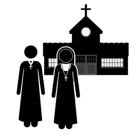 sanctuaries: Church design over white background, vector illustration