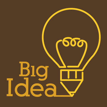 big idea: Big idea design over brown background, vector illustration