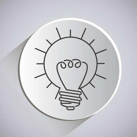 invent clever: Big idea design over grey background, vector illustration