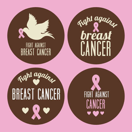 cancer symbol: Breast cancer design over pink background, vector illustration