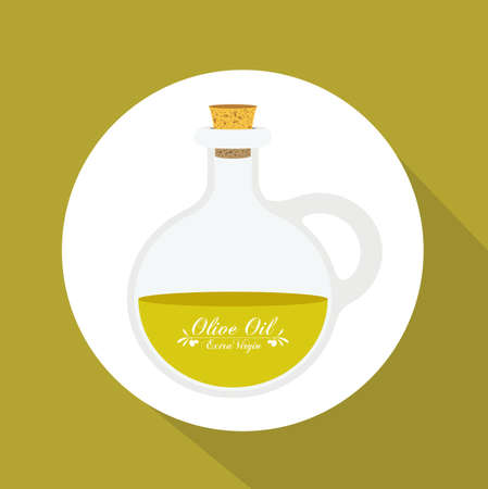 alimentation: Olive oil design over green background, vector illustration