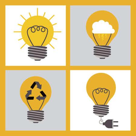 Big idea design over orange background, vector illustration Vector