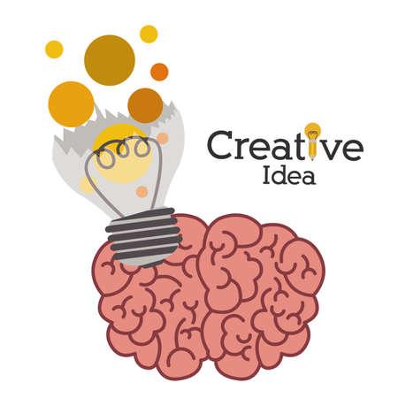mental object: Dise�o Idea grande sobre fondo blanco, ilustraci�n vectorial Vectores