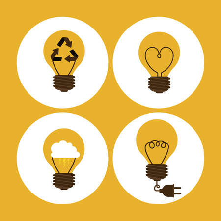 big idea: Big idea design over yellow background, vector illustration Illustration