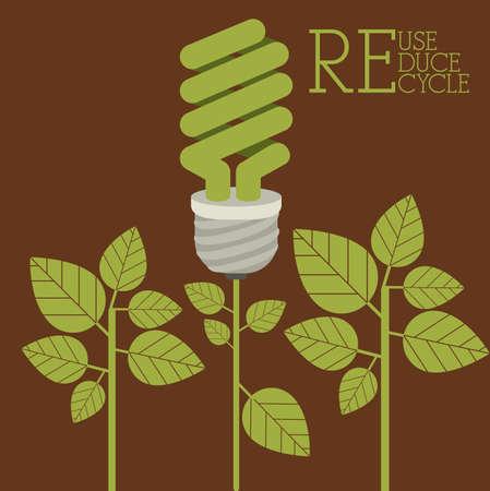 fond brun: conception Recycler sur fond brun, illustration vectorielle Illustration