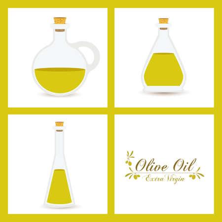 aceite de cocina: Dise�o Aceite de oliva sobre fondo blanco, ilustraci�n vectorial