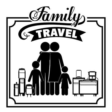 travel icons: Family travel  design over white background, vector illustration