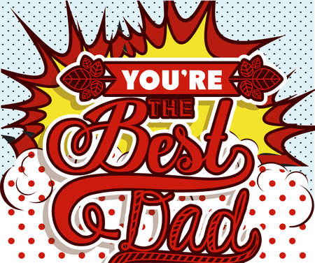 explotion: Fathers day design over pointed background, vector illustration