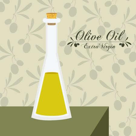 alimentation: Olive oil design over white background, vector illustration