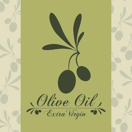 vitamines: Olive oil design over green background, vector illustration