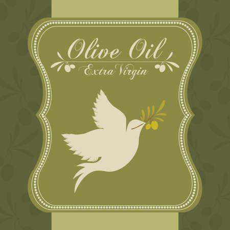 alimentation: Olive oil design over green background, vector illustration