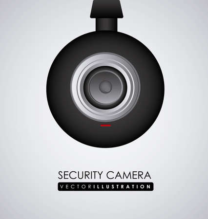 symbol vigilance: security system design, vector illustration