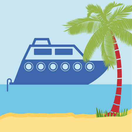 landscaped: Transportation design over landscaped background, vector illustration