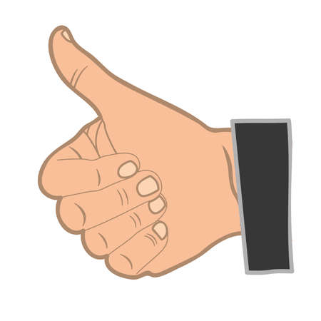 human okay hand sign: hand sign design, vector illustration