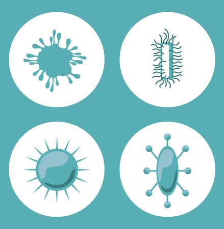 viral disease: Virus design over blue background, vector illustration