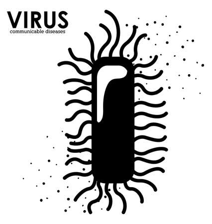 contagious: Virus design over white background, vector illustration