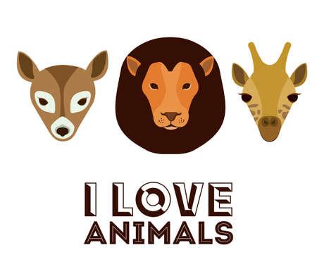 trusting: Love pet design over white background, vector illustration Illustration