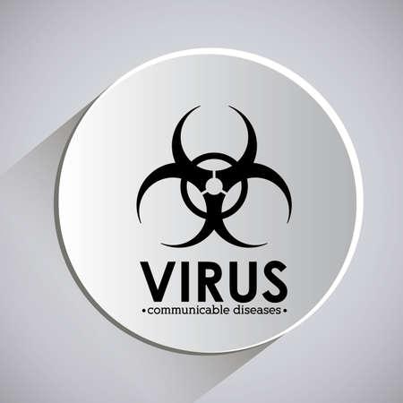 contagious disease: Virus design over grey background, vector illustration Illustration