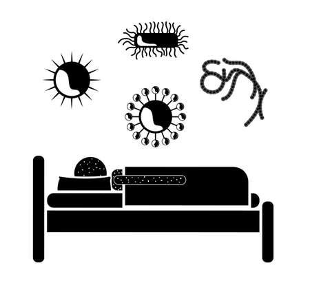 contagious disease: Virus design over white background, vector illustration