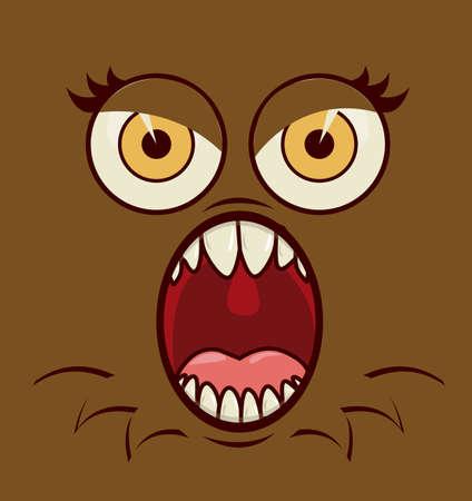 symptom: Virus design over brown background, vector illustration