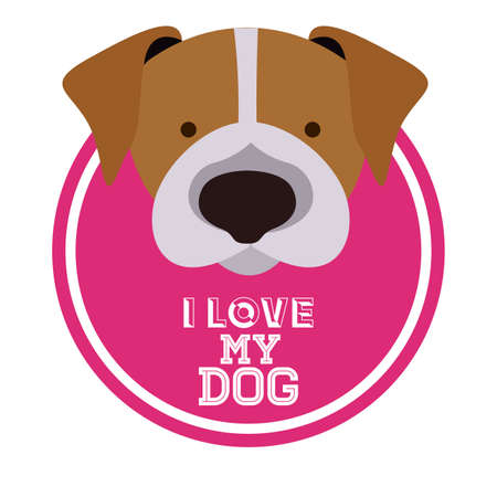 trusting: Love pet design over white background, vector illustration Illustration