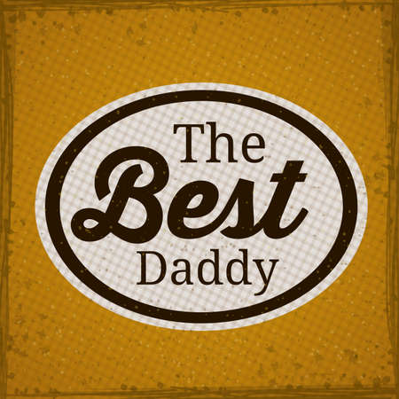 Father day design over striped background, vector illustration Vector