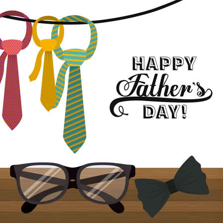 Fathers day design over white background, vector illustration