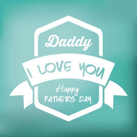 backgrund: Fathers day design over colored backgrund, vector illustration
