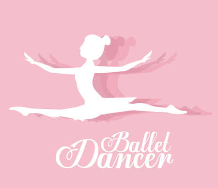 ballerina danza classica: Ballet dancer design over pink background, vector illustration Vettoriali