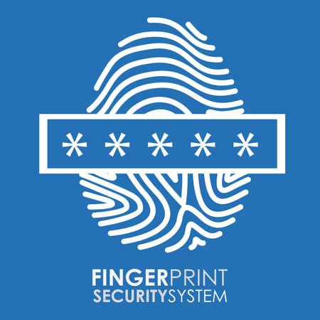 Security system design over blue background, vector illustration