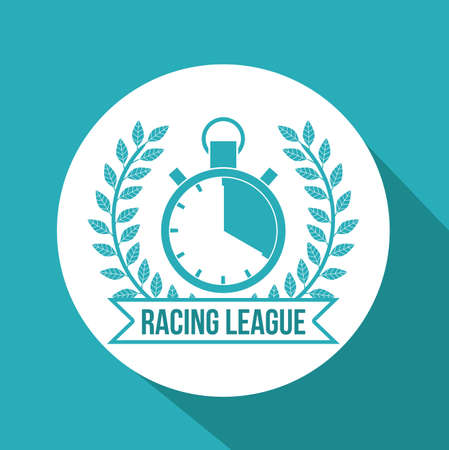 formula one racing: Racing School design over blue background, vector illustration Illustration