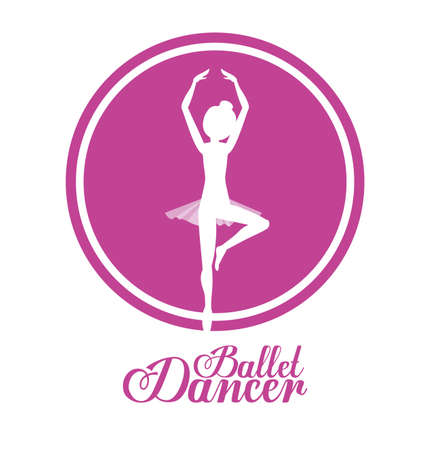 ballerina danza classica: Ballet dancer design over white background, vector illustration Vettoriali