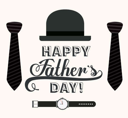 day: Fathers day design over white background, vector illustration